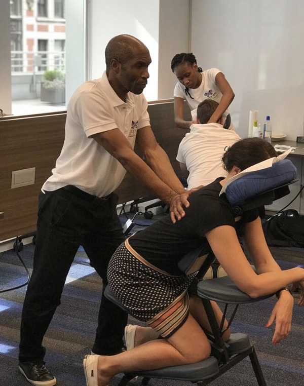 Corporate Chair & Hand Massage in NYC, Dallas, and Orlando